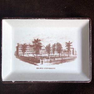 🌞Vintage Brown University College Ceramic Tray!